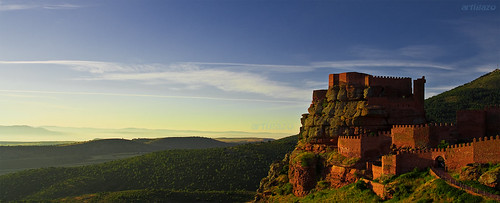 Sunrise in Peracense´s castle (Panoramic)