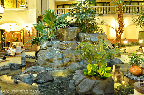 Indoor Garden outside Cork's Irish Pub in Embassy Suites ~ St Paul, MN