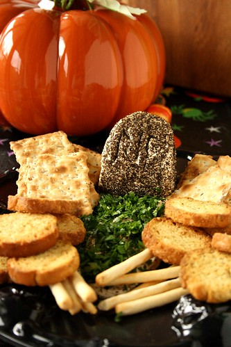 Taste of Home's Halloween Peppered Tombstone Spread