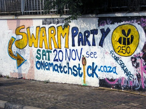 Swarm Party graffiti