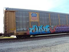Union Pacific (+PR+) Tags: railroad streetart chicago up graffiti trains railcar clay unionpacific spraypaint railfan freight boxcars autorack holyroller rollingstock rxr benching