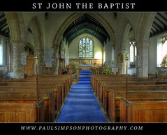 Inside Church (Paul Simpson Photography) Tags: windows church god religion jesus seats archway pew alter hdr nottinghamshire churchwindow notts bluecarpet stjohnthebaptist churchseats clarborough paulsimpsonphotography insidechurchphotos