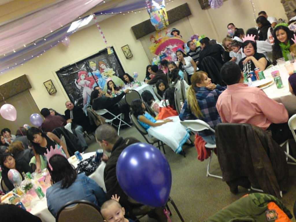 150 + people at 3 yr old bday