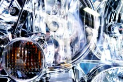 Let there be Light (Adam_T4) Tags: nyc blue light abstract glass reflections industrial taxi dream filter plugin headlight coolest disposable cs3 optikverve