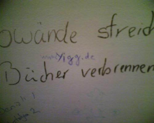 www.yigg.de steht zwischen den Satz