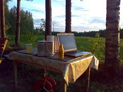 Midsummer entertainment setup (m4rkus) Tags: shozu geotagged geo:lon=2433432 geo:lat=6063469 imagespace:hasdirection=false