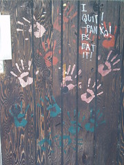 I quit! handprints