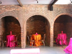 February Birthday Party (The Foundry L.I.C.) Tags: day archways decor thefoundry centerpieces alcoves roundtables thefoundryinterior bistrochairs thefoundrylic