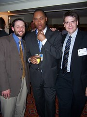 Matt Bors, Masheka Wood and Ben Smith at the AAEC banquet