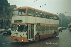 A dirty Winter's day in 1974 (Lady Wulfrun) Tags: winter bus buses manchester bury dirty east daimler fleetline lancs grimey selnec 6335 burycorporation 1974neepsend aen835c