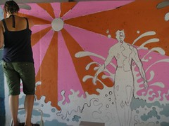 P1010016 (Kurt Christensen) Tags: art beach painting mural surfer gilgobeach gilgo