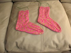 Strawberry-Lime socks