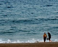 La Playa. (sinfo_0) Tags: barcelona sea summer mar barceloneta verano catalunya mediterráneo