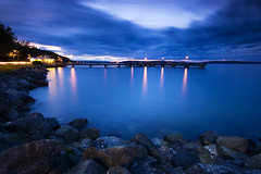 Les Davis Pier 8:15pm (TroyMasonPhotography) Tags: blue sunset sea landscape pier washington fishing pugetsound tacoma ruston commencementbay lesdavis