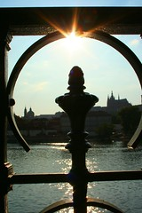 Sun in Prague (! .  Angela Lobefaro . !) Tags: trip travel sunset vacation sky building castle cars church water girl night clouds reflections river subway aqua wasser prague quality gimp prag praha praga linux chateau fluss acqua ubuntu castello vltava allrightsreserved 2007 kubuntu digikam abigfave angiereal rosemeasinterview rosemeamacphersonsinterview maxgreco angelalobefaro angelamlobefaro massimilianogreco