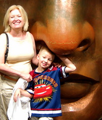 Mason and me and the Statue of Liberty's nose
