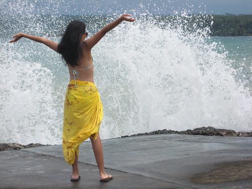 Waves crashing at Grande Island, Subic