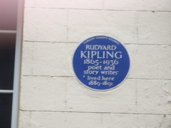 Photo of Rudyard Kipling blue plaque