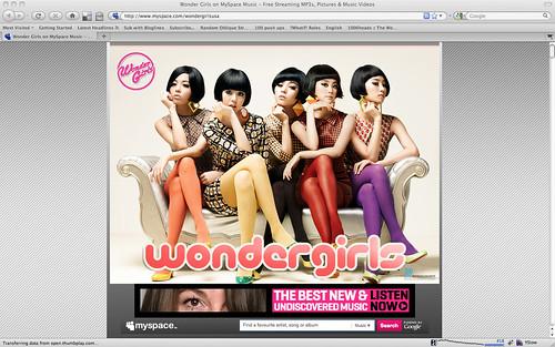 Wonder Girls MySpace