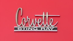 Chevrolet Corvette Sting Ray badge (Ilia Goranov) Tags: red classic chevrolet car vintage germany emblem deutschland stingray plate retro badge vehicle corvette    plaquette                shtuttgart