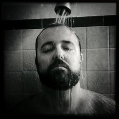 "52 Weeks of ""The One You Love"" (38): Cooling Down... [FYFF] (x2) (Sion+Anton) Tags: blackandwhite bw sepia furry squareformat bearman athome eyesclosed hairychest gettingwet 500x500 waterrunning sionfullana flashyourfurfriday cameraapp iphoneography antonkawasaki gaybeardedmale likeaquaman iphone3gs 52weeksoftheoneyoulove38coolingdownfyff standingundertheshower hipstamaticappjohnslensblackeyssupergrainfilm acreatureofwater ifhedidnthavewaterheddie"