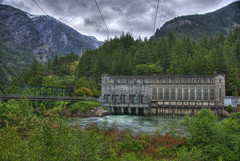 Gorge Powerhouse (Thad Roan - Bridgepix) Tags: seattle bridge building electric photo washington power image dam picture historic gorge powerplant washingtonstate powerhouse hydroelectric northcascadesnationalpark rosslake skagitriver whatcomcounty newhalem nationalregisterofhistoricplaces northcascadeshighway seattlecitylight nrhp 201006 89000499
