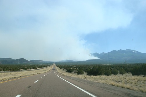 Schultz Fire from the north Hwy 89