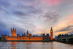 Westminster Sunset (James Neeley) Tags: uk sunset london westminster bigben parliment hdr 5xp jamesneeley