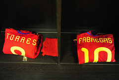 Torres y Frabregas jerseys (prismatico) Tags: world cup southafrica football soccer johannesburg 2010 fifaworldcup zaf fifaworldcup2010 fifa2010worldcup cup|fifa football|soccer|fifa 2010|fifa