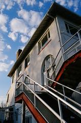 Boat Club on film (Wade Bryant) Tags: color film club mi 35mm boat nikon kodak detroit slide transparency belle f2 isle e100vs