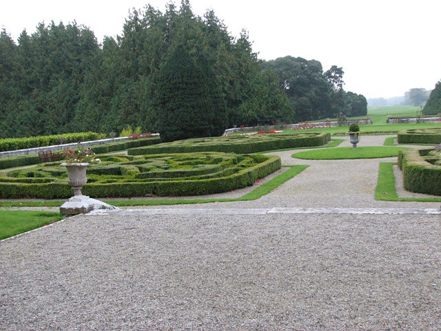 garden in front of manor