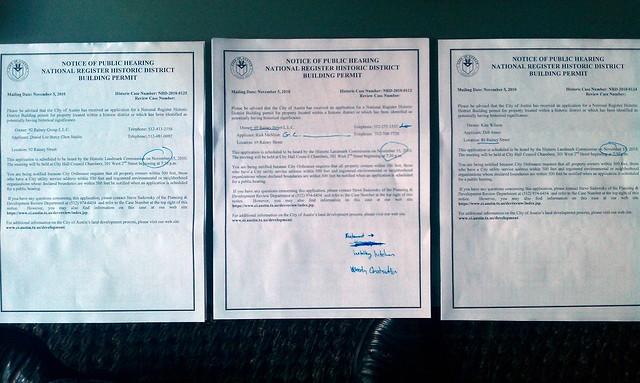 rainey street building permit requests