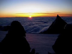 sunrise on summit day • above the clouds