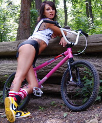Nicole Lee for SQUARE ONE BMX.  squareonebmx.com (blah blah photos...blah blah blah) Tags: pink trees girls pierced woman brown white black hot never tree green slr ass girl smile face look bike bicycle female work bug out photo nicole log eyes mac woods nikon sticker pittsburgh all cyclist legs general cut d butt wheels suicide trails logs ella x bugs lips riding booty saturation rest cropped shorts 40 decal pegs tatoo workout fitness peg fit handlebars mirra sprocket suicidegirl cranks burgh pedels neverrest nikond40x hometownpride squareonebmx sabbth