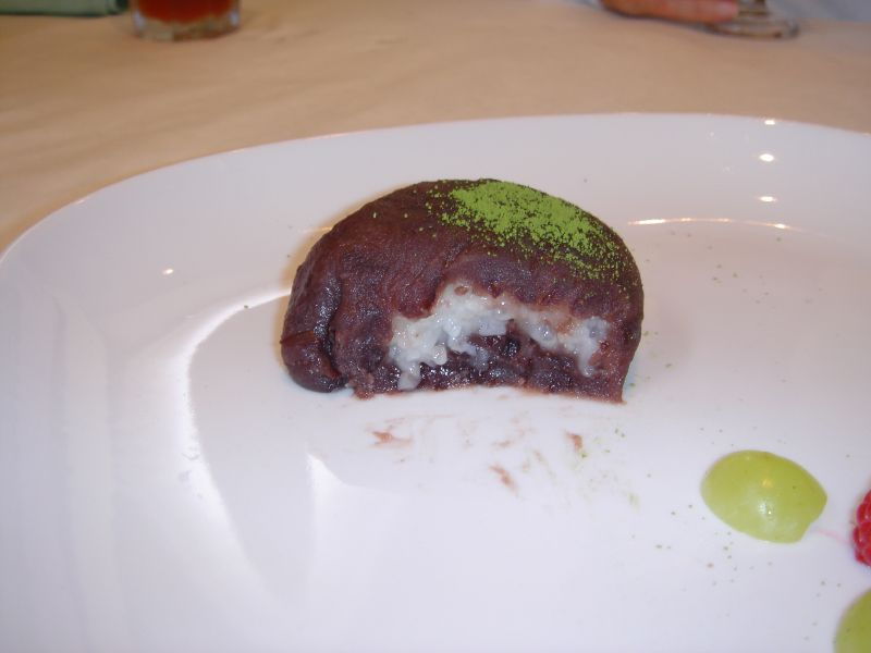 Bean cake sliced