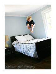 cannonball! (stacy w.) Tags: color child 5d everyday bedjump
