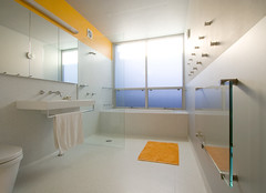 Bathroom Horizontal (Danial Marcus Nash) Tags: blue orange house architecture bathroom 500v20f designer interior sydney architectural explore architect portfolio residential dnp 1000views tafe lfh 5000views 7000views cmwd cmwdorange wwwdanialnashcom