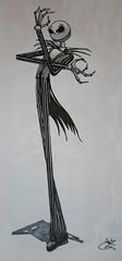 "Jack ""The Pumpkin King"" Skellington (boisy17) Tags: christmas art halloween jack graffiti paint image drawings before expressionism ez nightmare draw sketches blackbook 1000views skellington ericb pumpkinking boisy"
