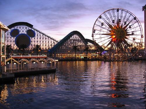 Original Paradise Pier at Sunset, Disney's California Adventure Park