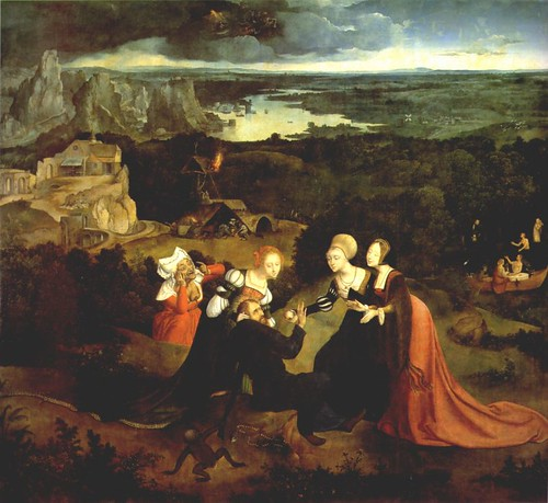 Temptation of Saint Anthony by Patinir and Metsys
