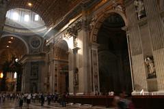 Saint Peter's Basilica (TonyNewMoon) Tags: sunlight vatican church saintpetersbasilica ibeauty