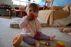 Stuffed apples (ilanasage) Tags: baby apple toy stuffed play honey rosh hashanah ilana challah shofar