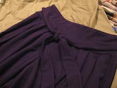 Tie front of pants