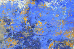 deep blue sea (wall) (christing-O-) Tags: blue sea detail texture colors wall 510fav painting see decay curves mur fonds ocan nuances courbes