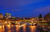 Blue Evening on Sully's Bridge (David Giral | davidgiralphoto.com) Tags: bridge blue chien david paris france night evening nikon hour pont entre loup d200 sully bateau et bateauxmouches giral nikond200 18200mmf3556gvr davidgiral