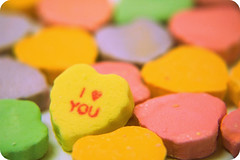 040-365 i {heart} you (amp'ed) Tags: pink 2 orange green yellow hearts purple candy 4 iloveyou picnik valentinesday closeupfilter roundedcorners macromondays 1960seffect project36612009