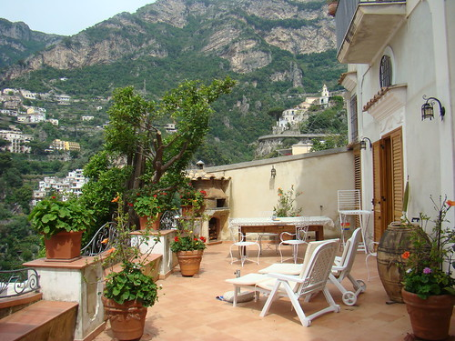 Terrace view of overlooking Positano
