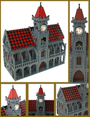 Town Hall and Market square (Kris_Kelvin) Tags: square town hall lego market diorama