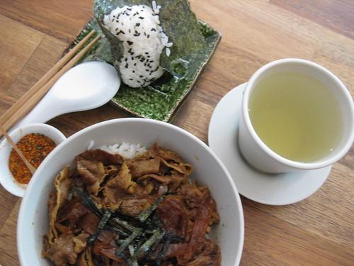 gyu don & onigiri