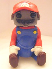 Super Mario Robot (Sleepy Robot 13) Tags: pink urban cute art fun toy toys robot funny robots polymerclay fimo figurines clay gamer kawaii sculpey etsy urbanvinyl designertoys sculpy sleepyrobot13 videogamepanda